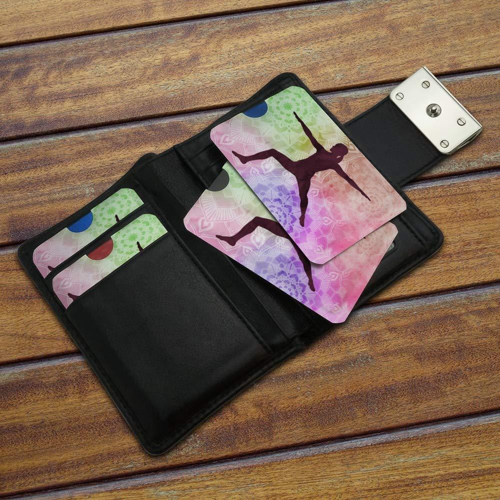 Warrior II 2 Yoga Pose Credit Card RFID Blocker Holder Protector Wallet Purse Sleeves Set of 4