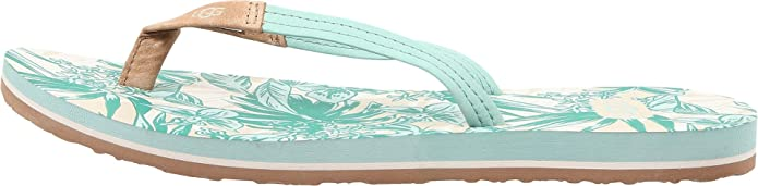 931ae1bc0851 UGG Women s Magnolia Island Floral Tropical Dino Green Sandal 12 B (M)   Amazon.co.uk  Shoes   Bags
