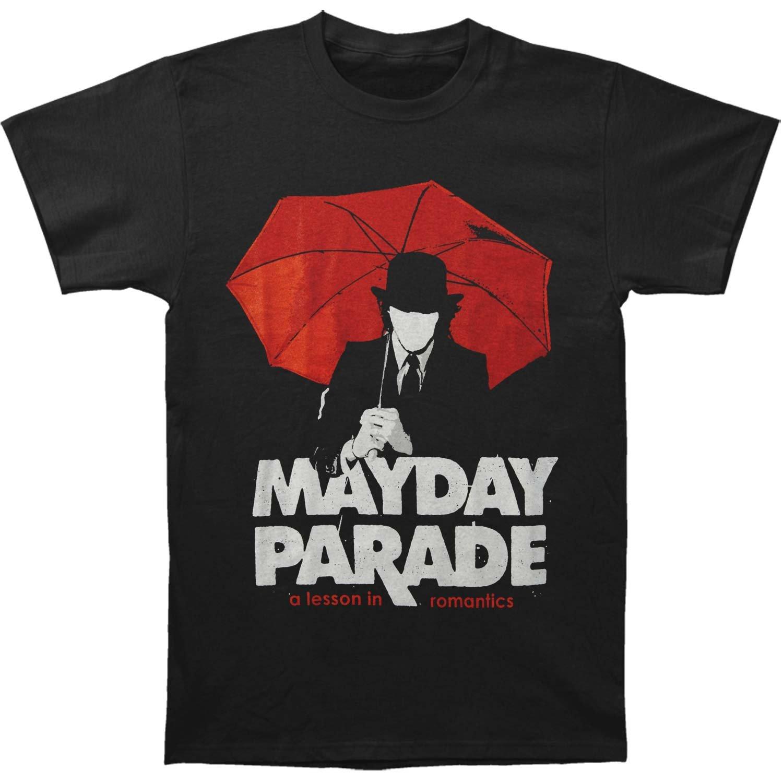 Amazon Mayday Parade Mens A Lesson In Romantics Umbrella Man T