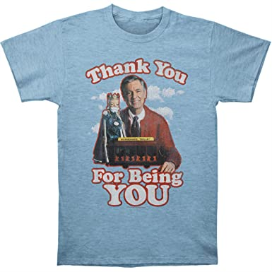 1e7af2b2ad7 Amazon.com  Mr. Roger s Neighborhood Men s Thank You T-Shirt Light ...