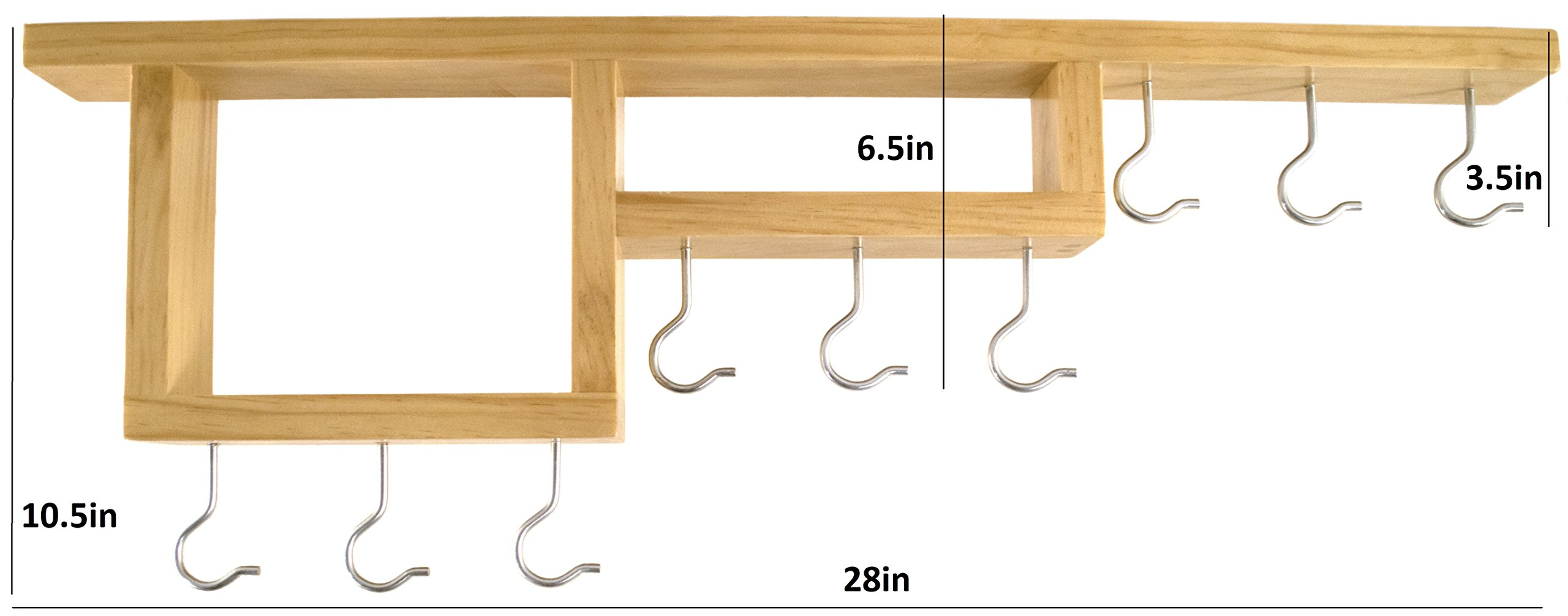 Pot Rack: Easy to Reach Ceiling Mount Solid-Wood Pan Hanger by HomeHarmony by HomeHarmony (Image #7)
