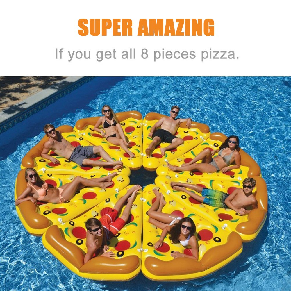 LUSTAR Flotador Inflable De La Piscina De La Pizza Fila Flotante De La Pizza Gigante De La Fiesta Al Aire Libre Flotador del Agua del Anillo De La Natación ...