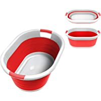 Collapsible Plastic Large Folding Pop Up Laundry Basket Space Saving Storage Container Organizer for Kids Toys or…