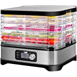 VIVOHOME Electric 400W 5 Trays Food Dehydrator Machine with Digital Timer and Temperature Control for Fruit Vegetable…