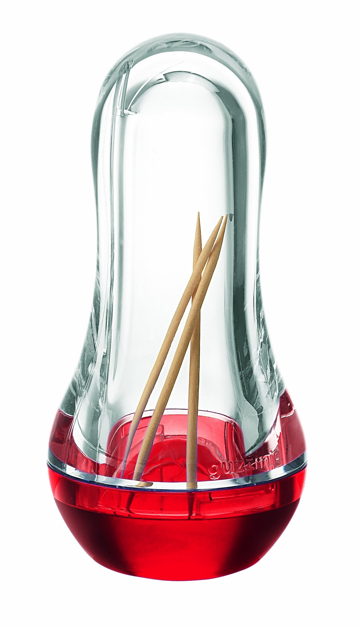 Guzzini Feeling Transparent Red Toothpick Dispenser