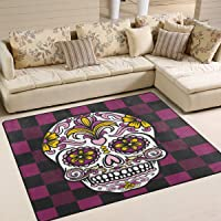 tapis salon tête de mort 8