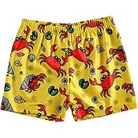 Komoo Toddler Baby Boys Swim Trunks Quick Dry Fruit Cartoon Printed Beachwear Elastic Waist Summer Swimsuit