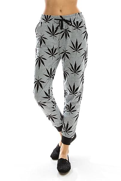 c7dedd235 Womens Capri Leggings - Marijuana Leaf Printed Yoga Pants - Skinny &  Stretchy Joggers Pants -