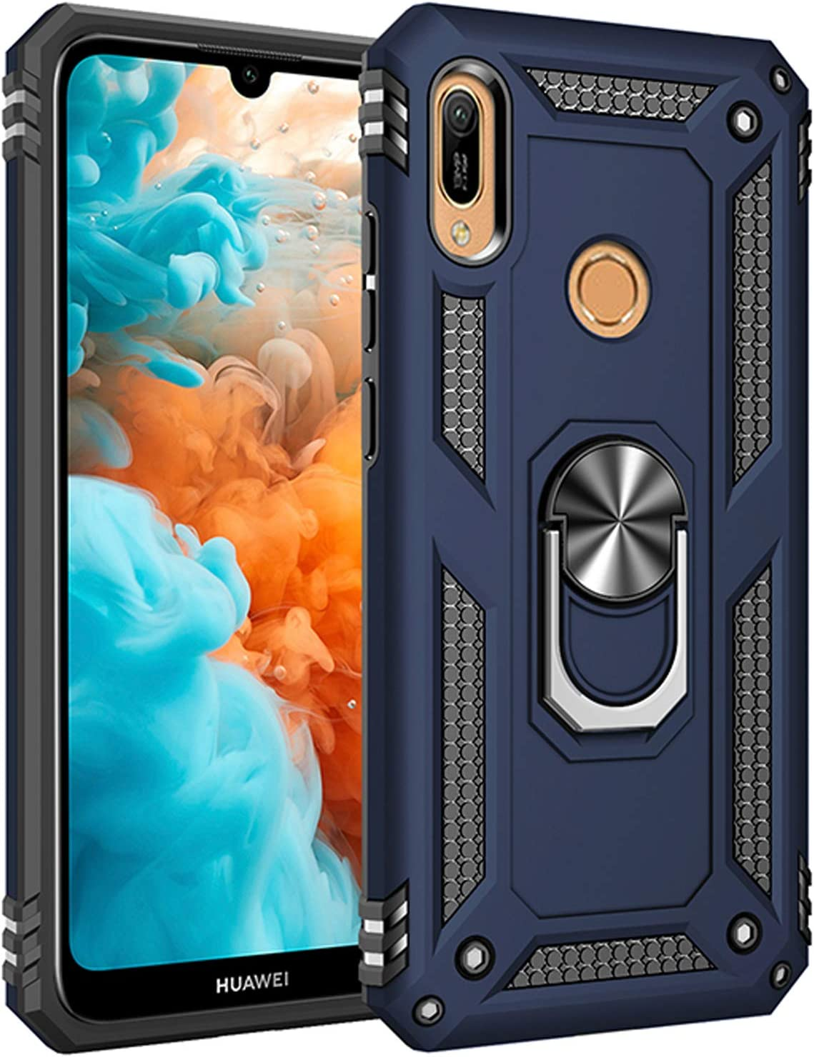 Pegoo Coque Huawei Y6 2019 Y6 Pro 2019 Noir Honor 8A Housse ...