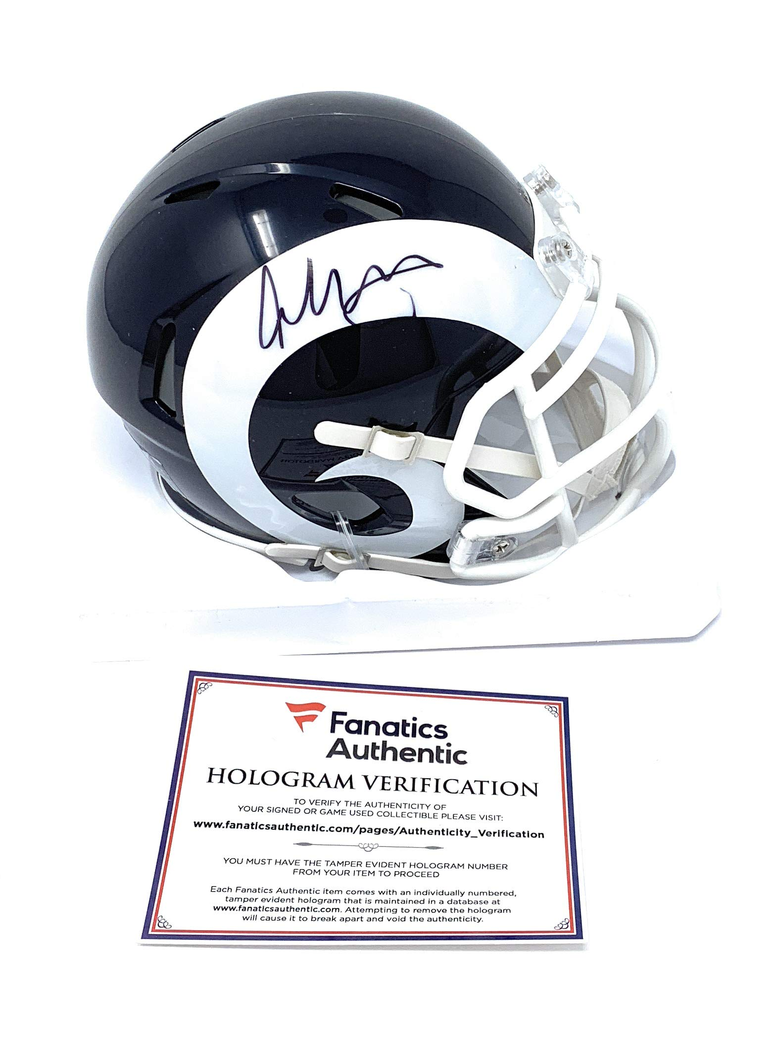 Todd Gurley Los Angeles Rams Signed Autograph Speed Mini Helmet Fanatics Authentic