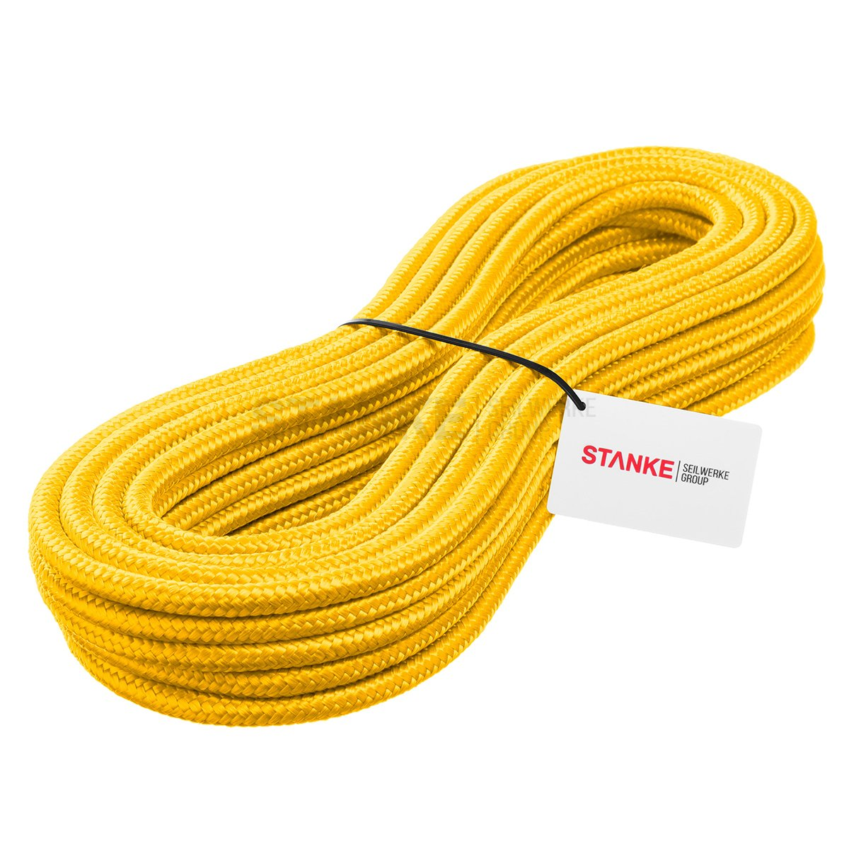 Seilwerk STANKE 20 m 10 mm Polypropylene Hollow Braided General Purpose Rope PP Line Mooring Anchor And Rigging Line Heavy Duty Twine Yellow