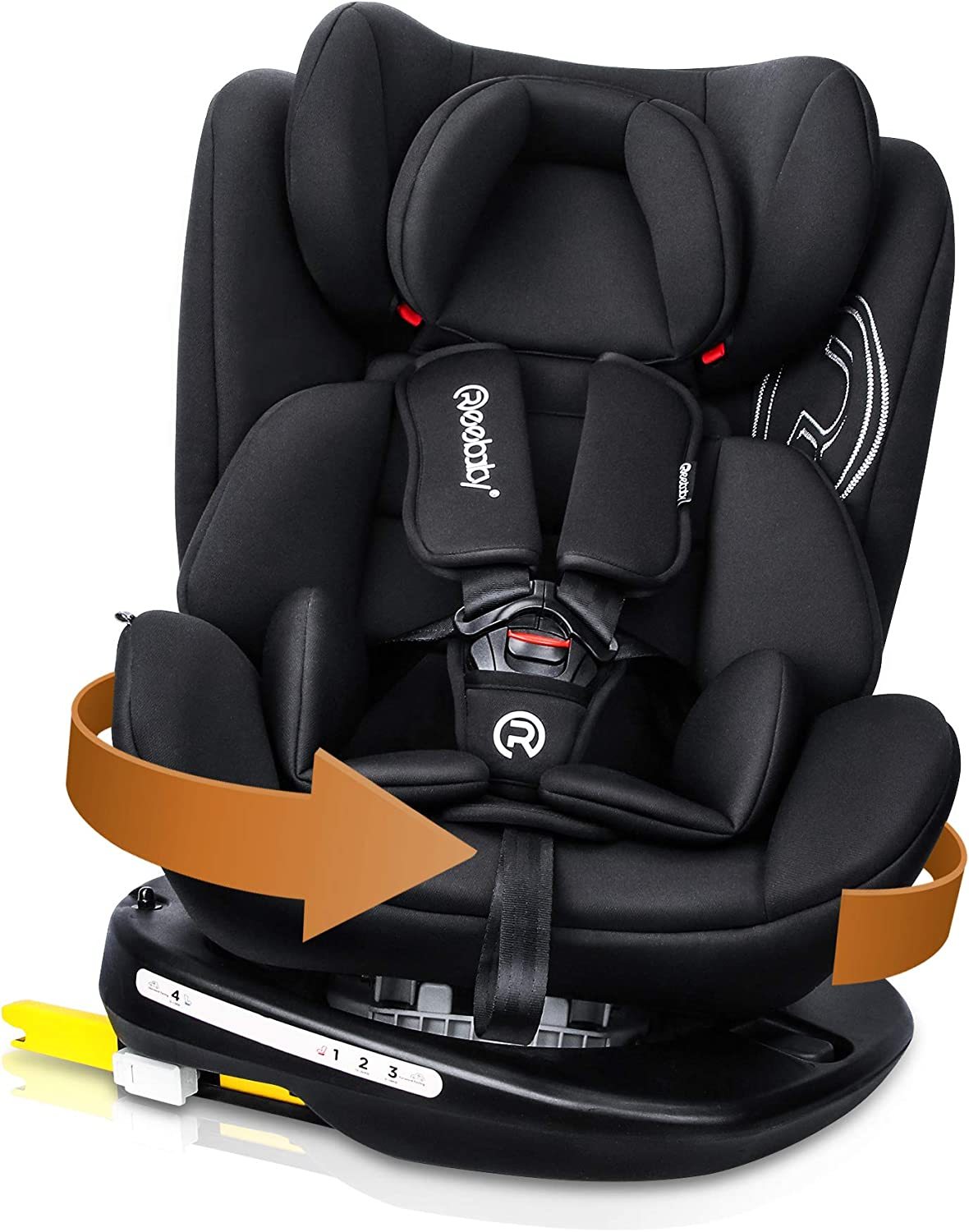 Reebaby Rotation 360 Baby Car Seat for Child Group 0+/1/2/3 ...