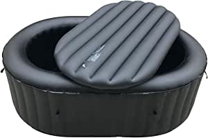 ALEKO HTRP2BK Inflatable Oval Insulator Top for 2-Person Inflatable Hot Tub - Black