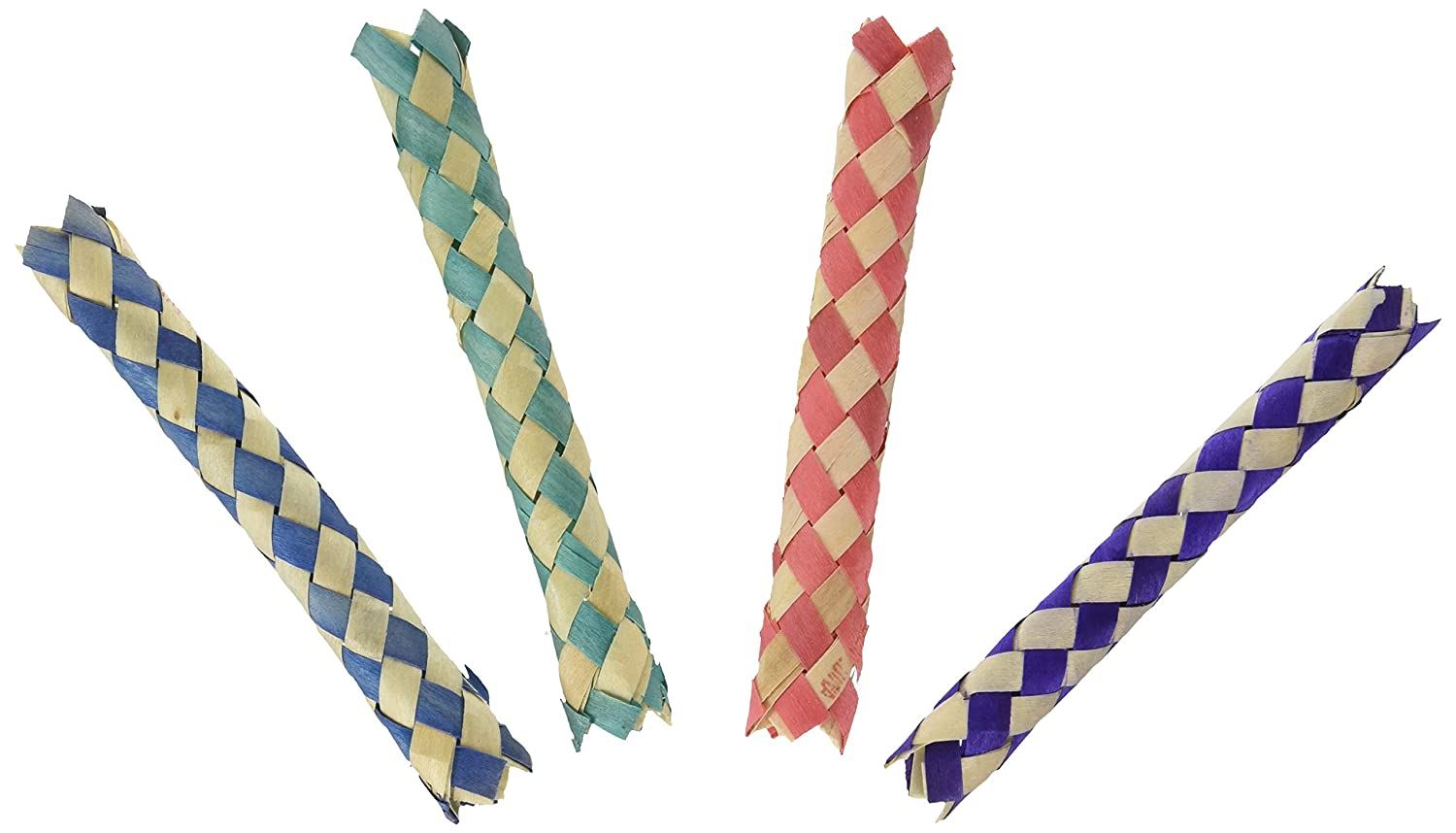 12 Chinese Finger Traps - Assorted Colors RIN