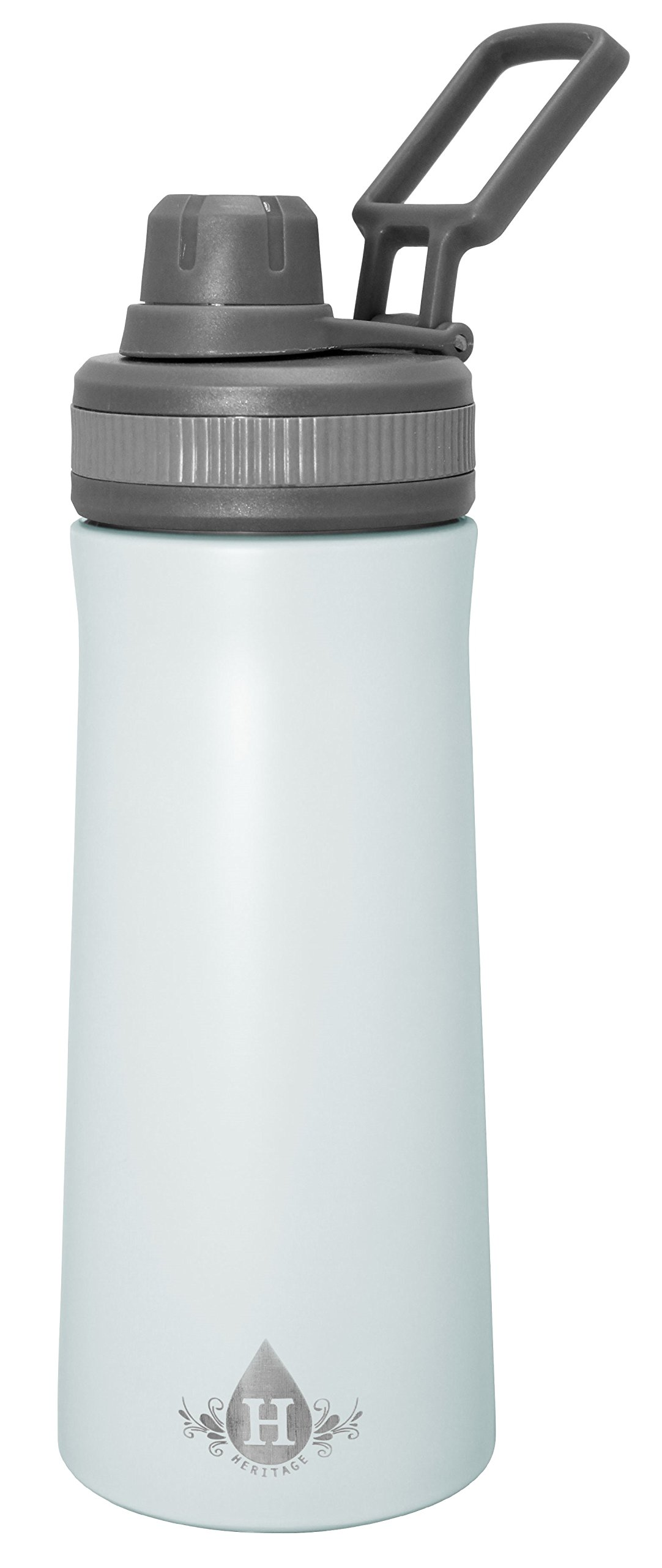 Gourmet Home Products 187449 Double Wall Stainless Steel Vacuum Insulated Water Bottle, 34 oz, Spa Blue