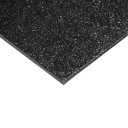 """.250/"""" 100 pcs ABS Black Plastic Sheet 1//4/"""" x 2/"""" x 10/"""" Haircell 1 side 6mm"""