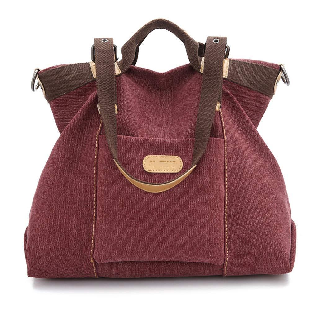 SJMMBB Women's Bag, Canvas Bag, Satchel Bag, Handbag,Violet,38X29X12Cm