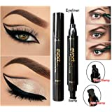 Culater%C2%AE Thick Stamp : Culater Winged Eyeliner Stamp Waterproof Makeup Cosmetic Eye Liner Pencil Black (Thick Stamp)