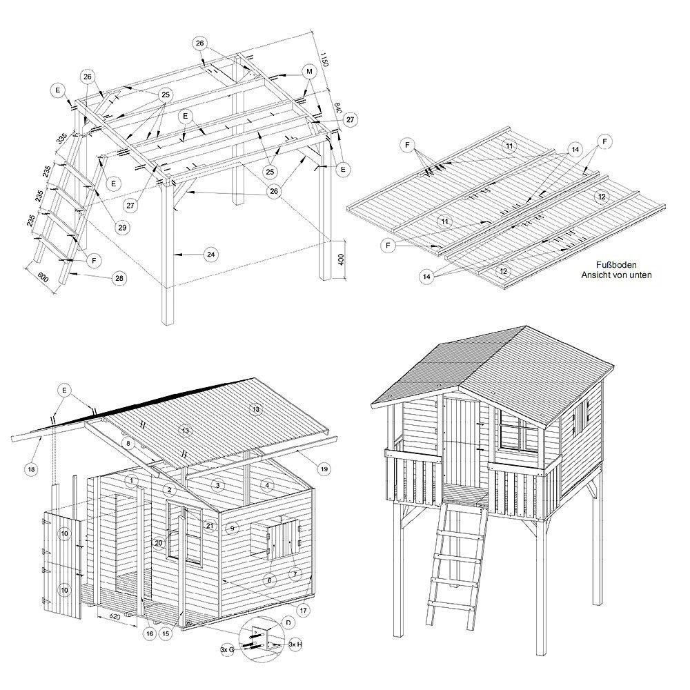 stelzenhaus f r kinder im garten bauen worauf sollte man achten. Black Bedroom Furniture Sets. Home Design Ideas