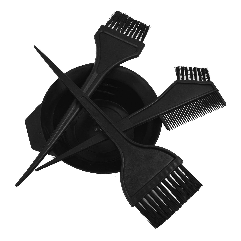Elisona-4 PCS Plastic Salon Hair Coloring Dye Tint Bowl Comb Brush Hairdressing Styling Tool Kit