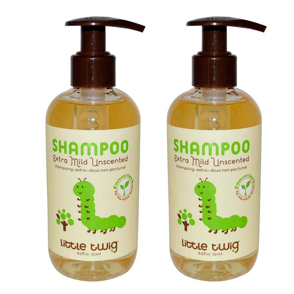 Little Twig Unscented Shampoo with Jojoba Oil and Vitamin B5, 8.5 fl. oz. (Pack of 2)