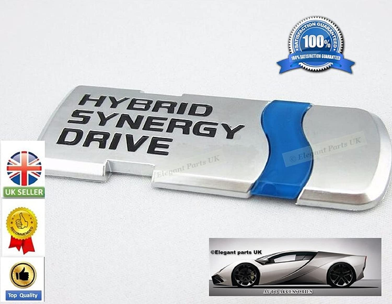 Hybrid Synergy Drive Chrome metal Hybrid Car styling Decoration emblemi sticker