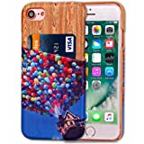 DDLBiz Fashion Wooden Colorful Card Holder Case Cover For iPhone7 4.7 Inch