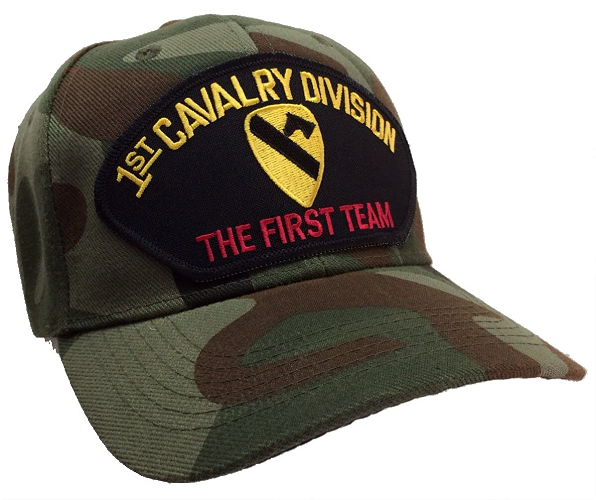 c63c8055fd3 Amazon.com  US Army 1st Cavalry Division Camouflage Hat Camo Ball Cap   Clothing