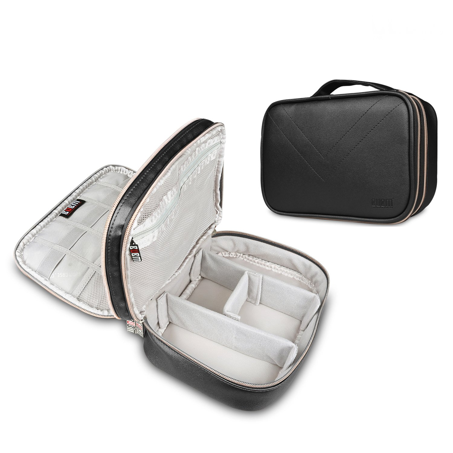 Electronics Organizer Bag Portable Travel Organizer Storage Carrying Bag for USB Cables,Chargers,Power Bank,iPad Mini