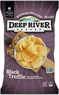 product image for Deep River Snacks Kettle Potato Chips, Black Truffle, 1.5-Ounce (Pack of 24), Gluten Free, Non GMO, 1.5 Ounce (Pack of 24)