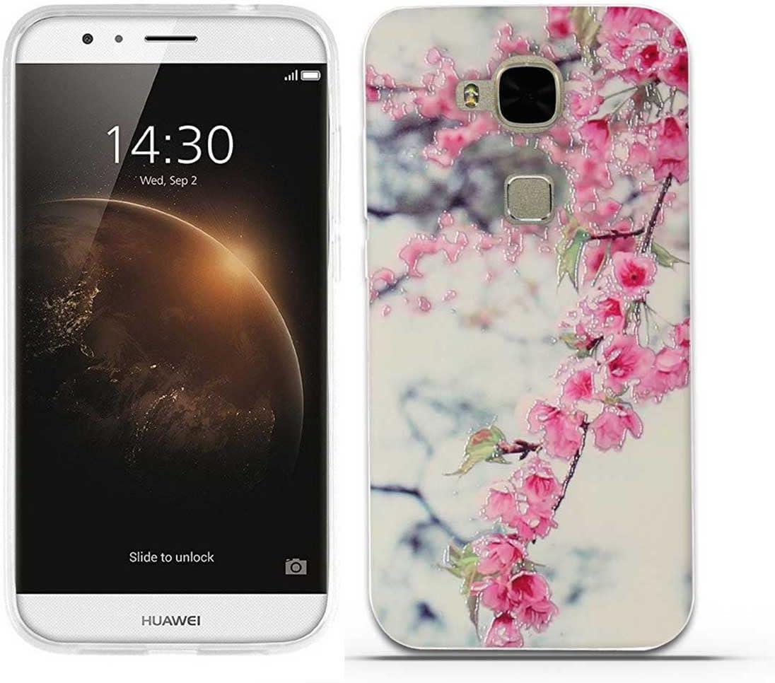 GX8 D199 GX8 D199 Linda Patr/ón,Fina,Flexible,a los ara/ñazos en su Parte trasera,Amortigua los golpes,funda protectora Anti-golpes para Huawei G8//G7 Plus FUBAODA Funda Huawei G8//G7 Plus