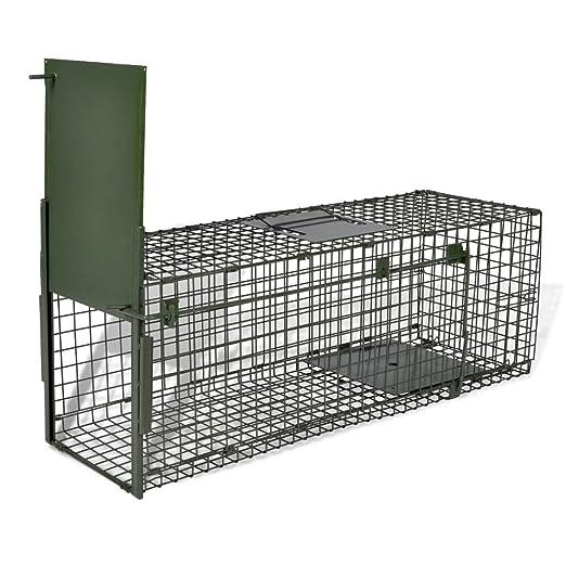 Vislone Plegable 1-Puerta Trampa para Animales Jaula Trampa para ...
