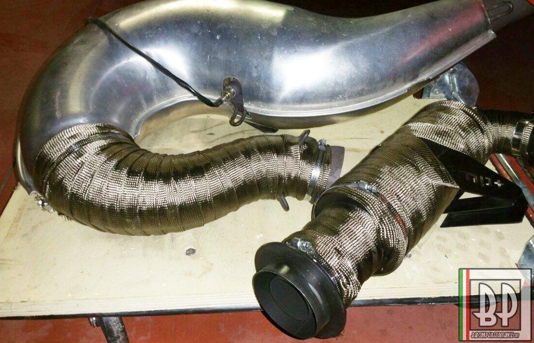 5 METRI Benda Termica Scarico Collettori Tubi Auto Moto, tecnologia Aerospaziale 100% Made in Italy, diametro 50mm F.I.E. Balconi Srl