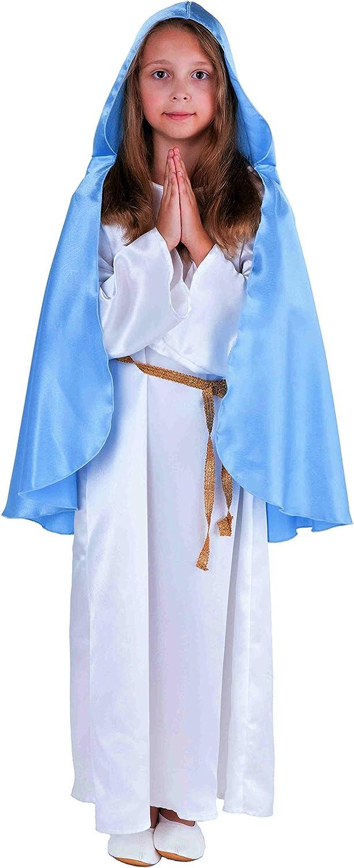 Deluxe Virgen María Disfraz Belén de Juego para niños color blanco ...