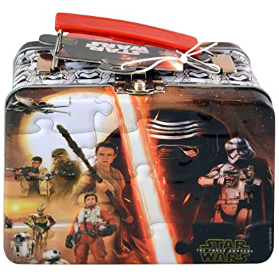 Star Wars Episode 7 The Force Awakens Puzzle - Mini Jigsaw Puzzle with Lunch Tin Box: Toys & Games