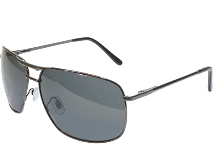 35807cf9230 Amazon.com  G G Polarized Square Aviator Sunglasses (Gunmetal Grey ...