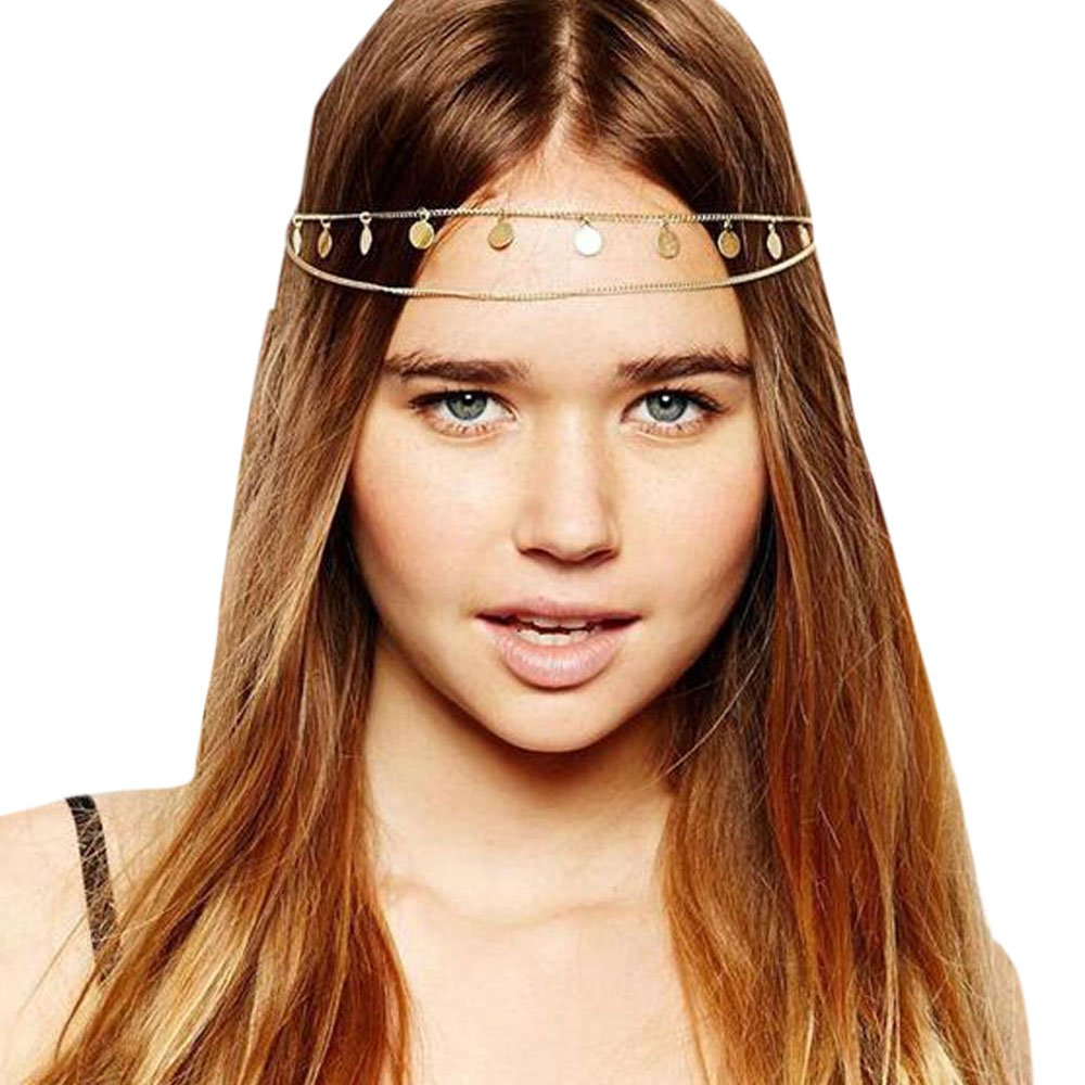 Gracewedding Damen Kopfschmuck/Haarkette, Metallkette fü r die Haare 123333