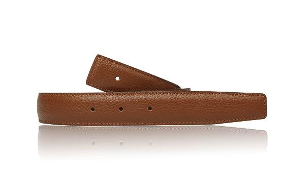 6f3f5abca082b0 Cognac Wendegürtel in echt Leder für Herren & Damen 31mm Breiter Gürtel in  Braun (80