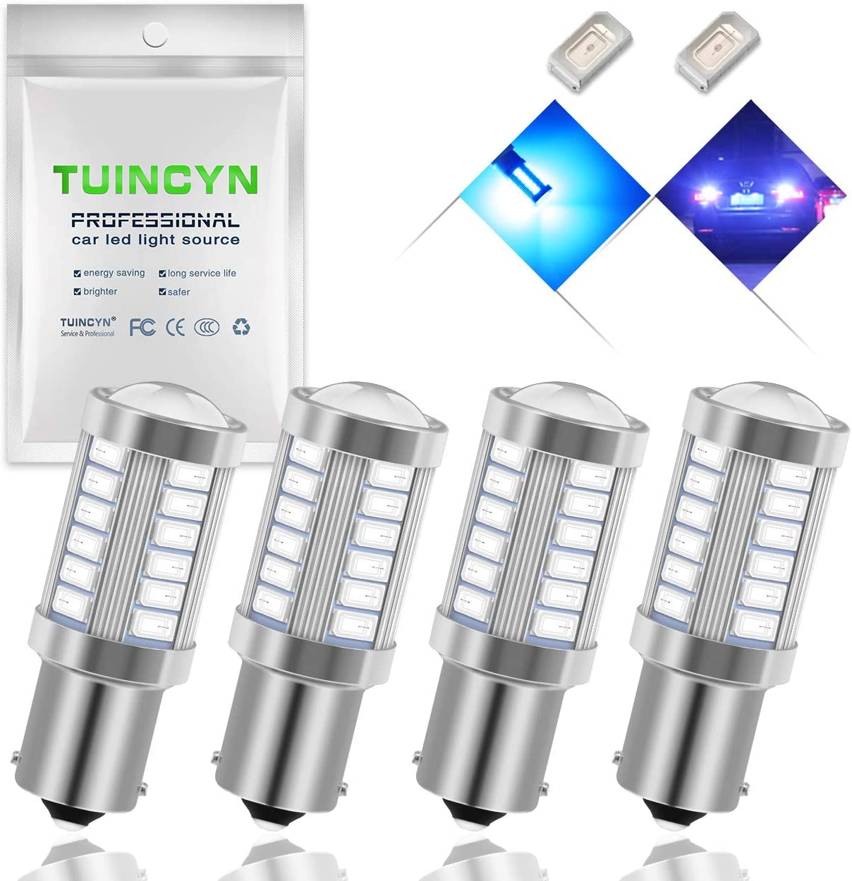 EverBright 20-Pack Extremely Bright White 1156 BA15S 1141 1073 1095 1003 7506 24-SMD LED Car Replacement Interior RV Camper Rear Turn Signal,Back Up,Parking Side Marker Light Bulb DC 12V YM E-Bright 4350381894