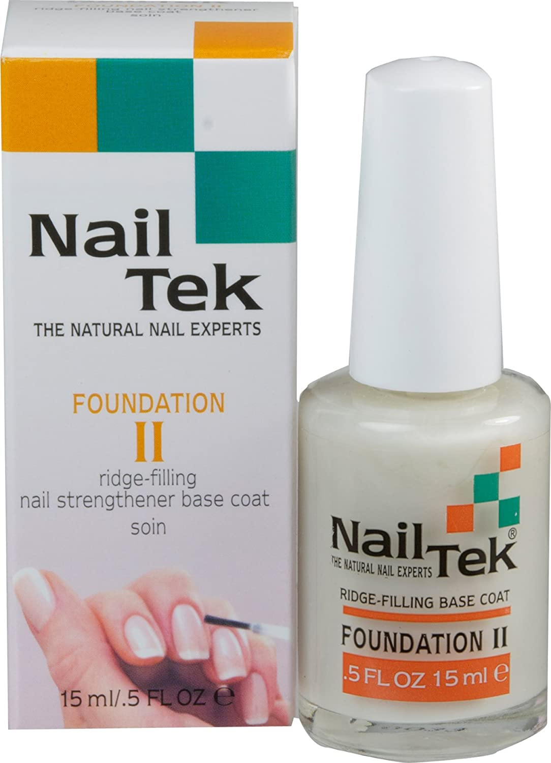 Amazon.com : Nailtek Foundation No.2 Ridge-Filling Nail Strengthener ...