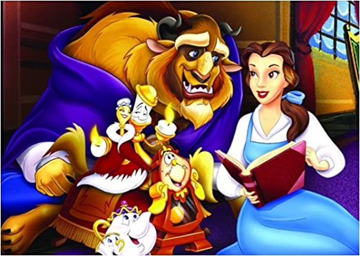 La Bella y la Bestia Princesa Disney - Oblea para tarta personalizable - Kit n.° 4 Cdc - (1 oblea tamaño A4 210 x 297 mm): Amazon.es: Hogar