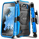 Galaxy S6 Active Case, Evocel [New Generation] Dual Layer Rugged Holster Case with Kickstand and Belt Swivel Clip For Samsung Galaxy S6 Active SM-G890 (DOES NOT fit regular S6 - S6 Active only), Blue