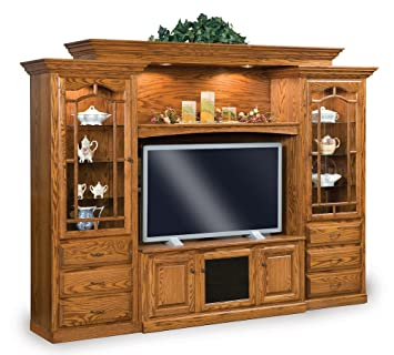 Delicieux Traditional Entertainment Center Wall Unit Solid Wood (45 1/2u0026quot;)
