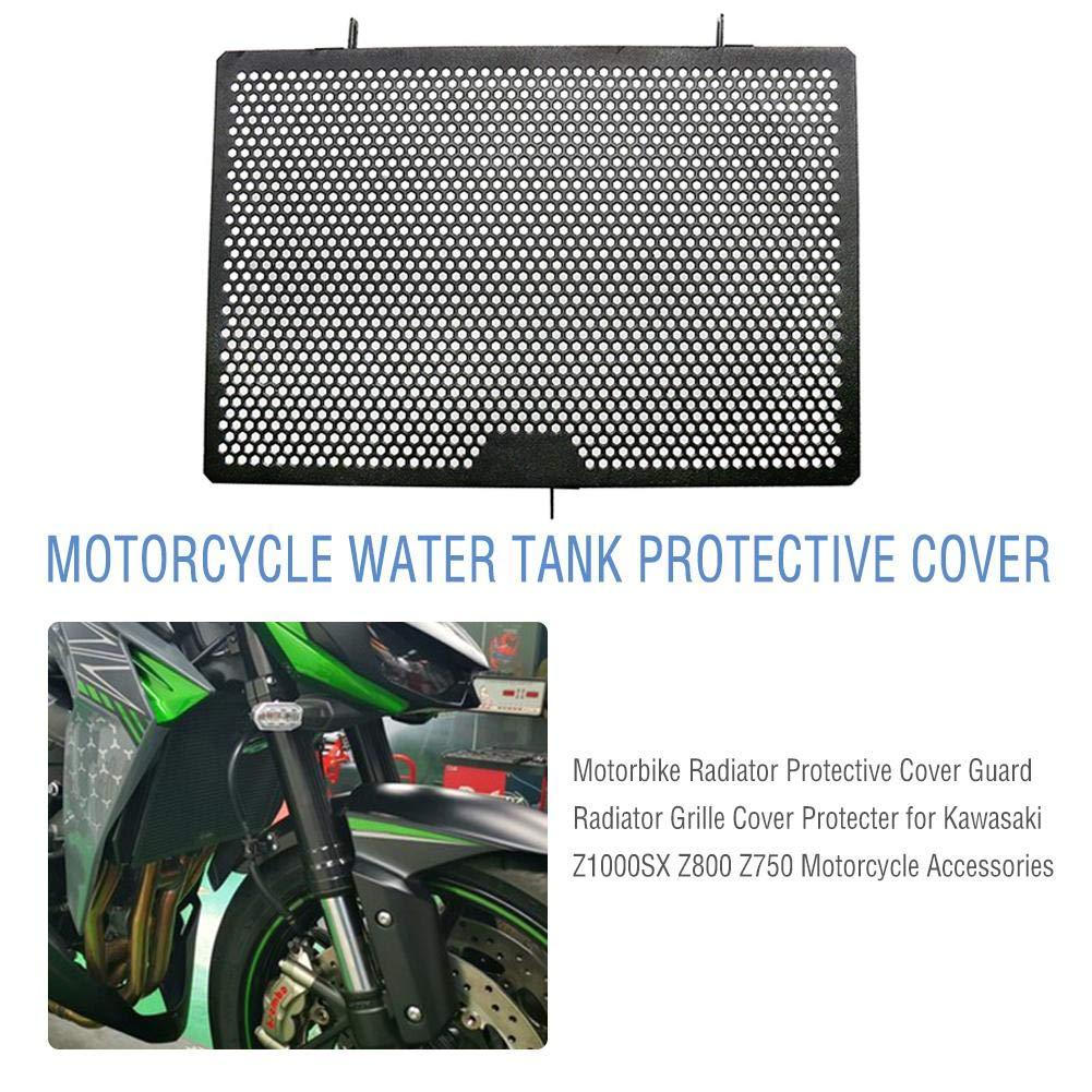 SueSupply Protection de radiateur pour Moto Garde en Acier Inoxydable Garde de radiateur pour Kawasaki Z1000SX Z800 Z750 Accessoires