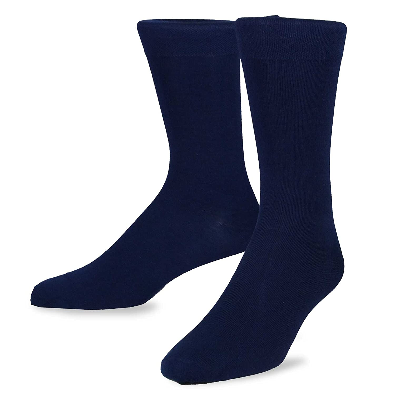TeeHee Mens Bamboo Crew Dress Socks 6-pack Soxnet Inc S//50022-B07-6P