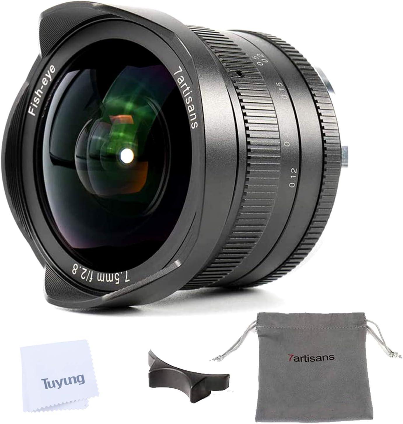 7artisans 7 5mm F2 8 Ii Aps C Fisheye Objektiv Mit 190 Kamera