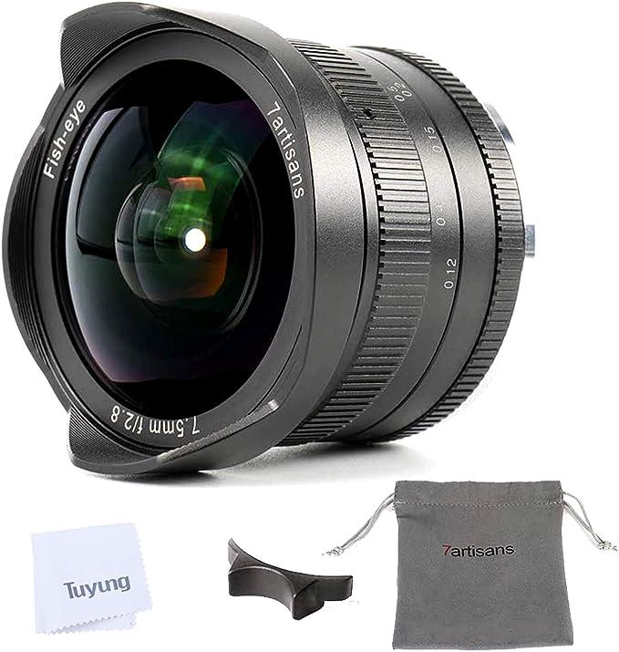7artisans 7,5 mm F2.8 Manual Lente de ojo de pez para Panasonic Olympus Micro cuatro tercios MFT M4/3 Cámaras con tapa de objetivo: Amazon.es: Electrónica