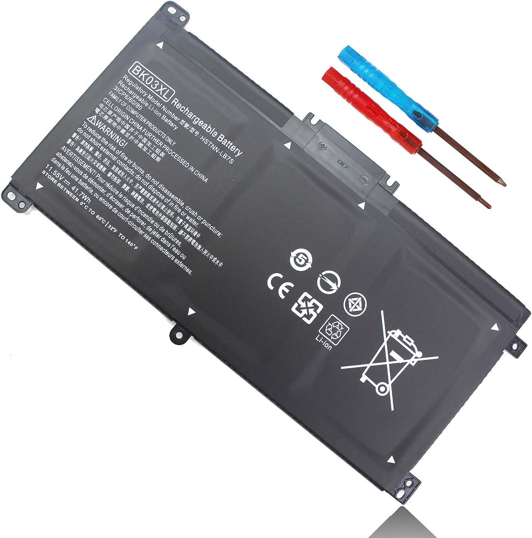 Emaks BK03XL Battery for HP Pavilion X360 14-BA000 14M-BA000:14m-ba011dx 14m-ba013dx 14m-ba015dx 14m-ba114dx 14-ba253cl 14-ba125cl 14-ba175nr 14-ba051cl 916366-421 541 916811-855 HSTNN-LB7S UB7G