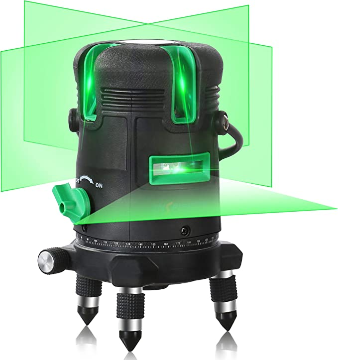Self Leveling Green Beam Laser Level Horizontal Vertical Cross Line Lazer Rechargeable Leveler Tool For Construction Ceiling Tile Picture Hanging Framing Wall Cabinet With 360 Degree Rotating Base Amazon Com