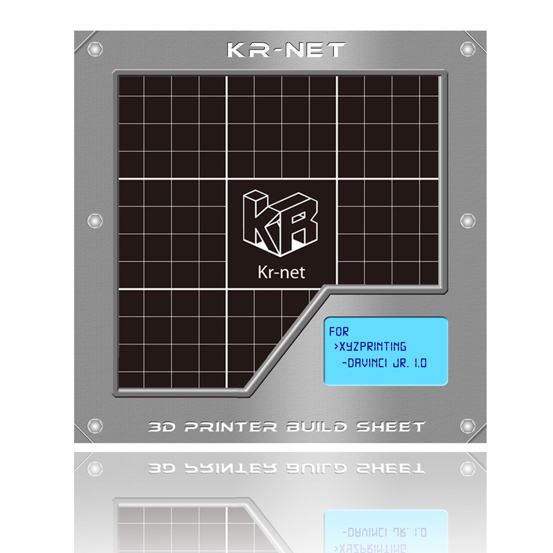 kr-net ® Impresora 3d pegatina construir Hoja Grid Ver. 2.0 ...